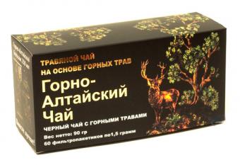 Фиточай Горно-Алтайский c черным чаем и горными травами