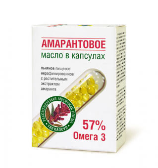 Масло льняное «Амарантовое» в капсулах