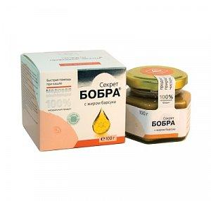 Секрет бобра с жиром барсука на меду - Помощь при кашле